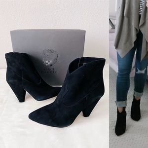 ✨New VINCE CAMUTO Movinta Suede Point Heel Booties